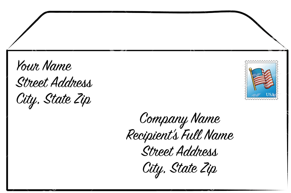 how to write address on a letter gallery format of letter to